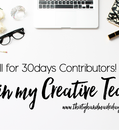 Join my 30days team www.thirtyhandmadedays.com