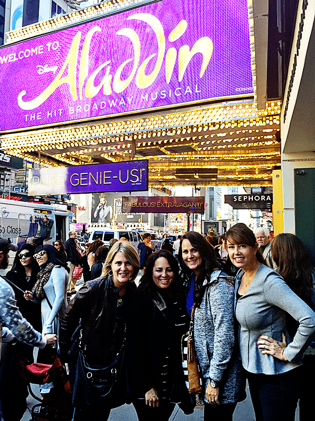 Going to Aladdin on Broadway www.thirtyhandmadedays.com