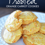 Frosted Orange Carrot Cookies