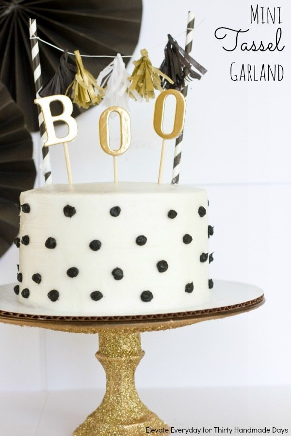 mini tassel garland & cake topper