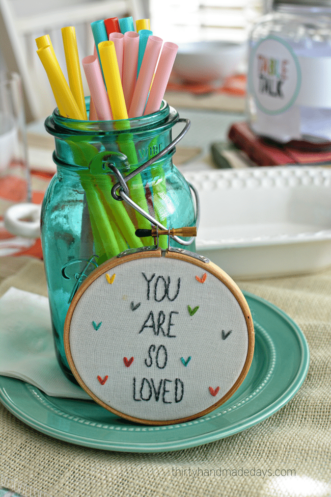 You are so loved! Dinner set up.