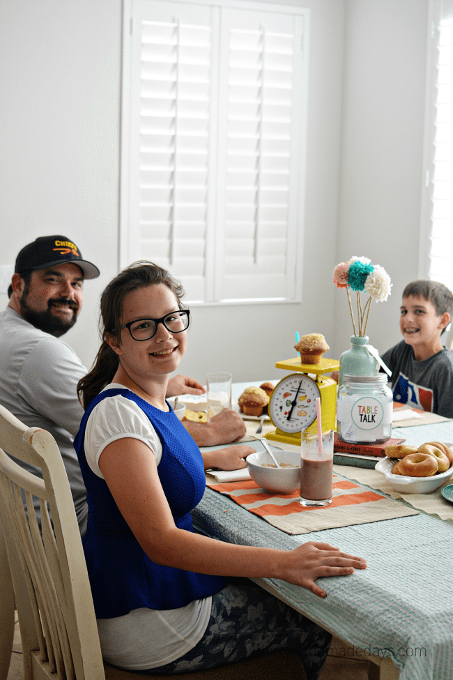Eating dinner all together - join the challenge!