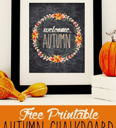 Welcome Autumn Printable