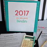 2017 All Inclusive Binder from Thirty Handmade Days
