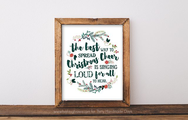 Christmas Cheer. Holiday Printable from Live Laugh Rowe