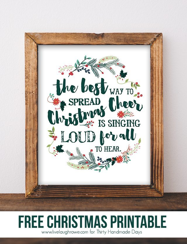 Christmas Printable. Holiday Printable from Live Laugh Rowe_1