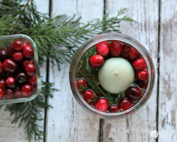 5 Minute Christmas Luminaries - easy to make and make your house smell good! What you need, candle