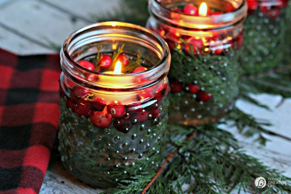 5 Minute Christmas Luminaries - easy to make and make your house smell good! What you need, candles lit