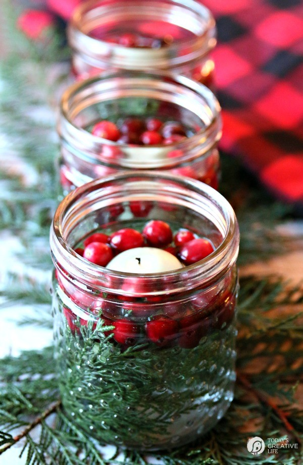 5 Minute Christmas Luminaries - easy to make and make your house smell good! via www.thirtyhandmadedays.com