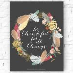 Be Thankful Printable
