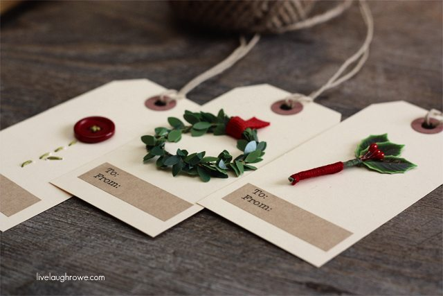 Handmade Christmas Gift Tags from Live Laugh Rowe