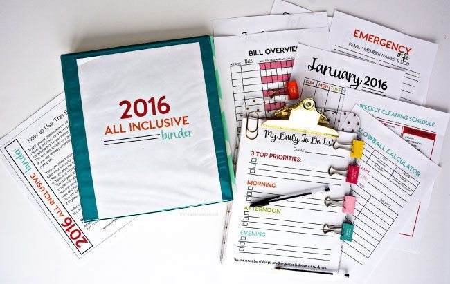 2016 All Inclusive Binder from www.thirtyhandmadedays.com