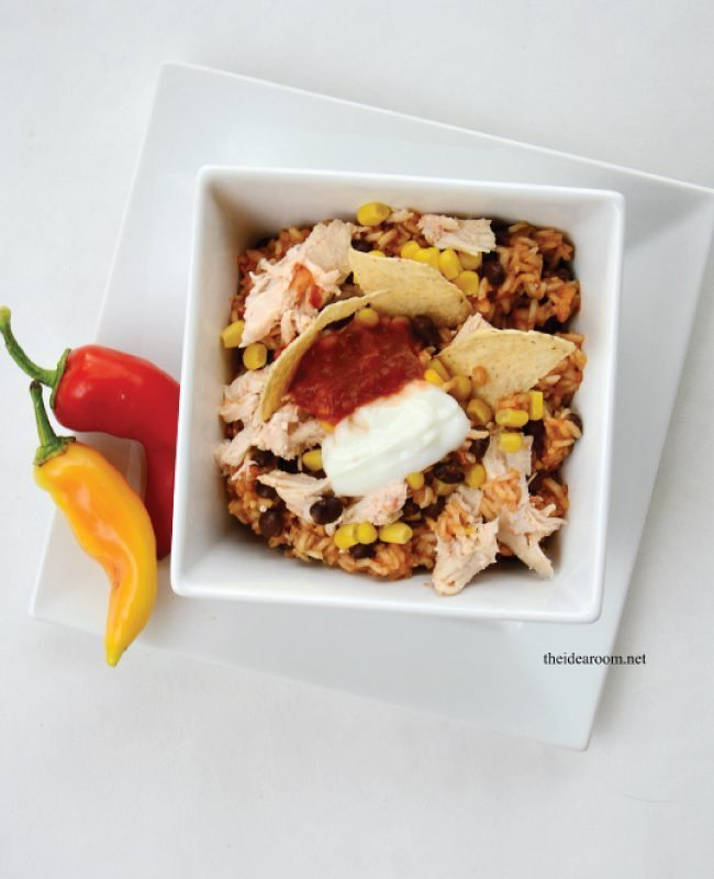 Slow Cooker Chicken Burrito Bowls from www.theidearoom.net