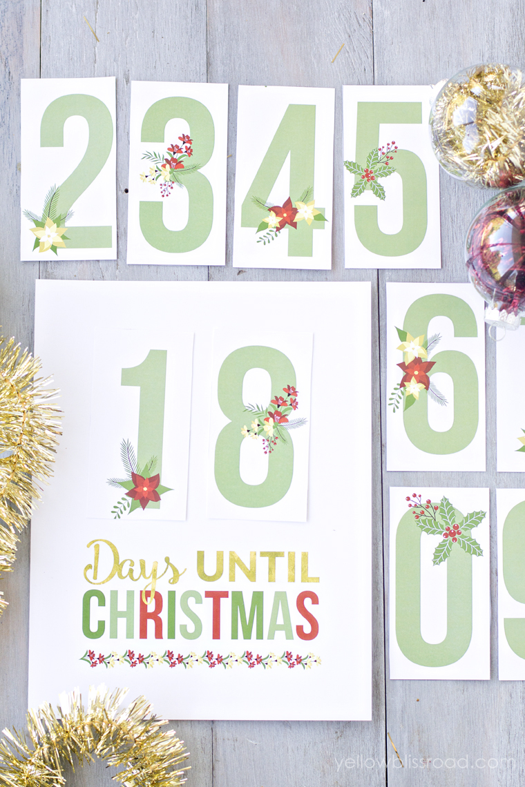 photo regarding Countdown Printable called Printable Xmas Countdown