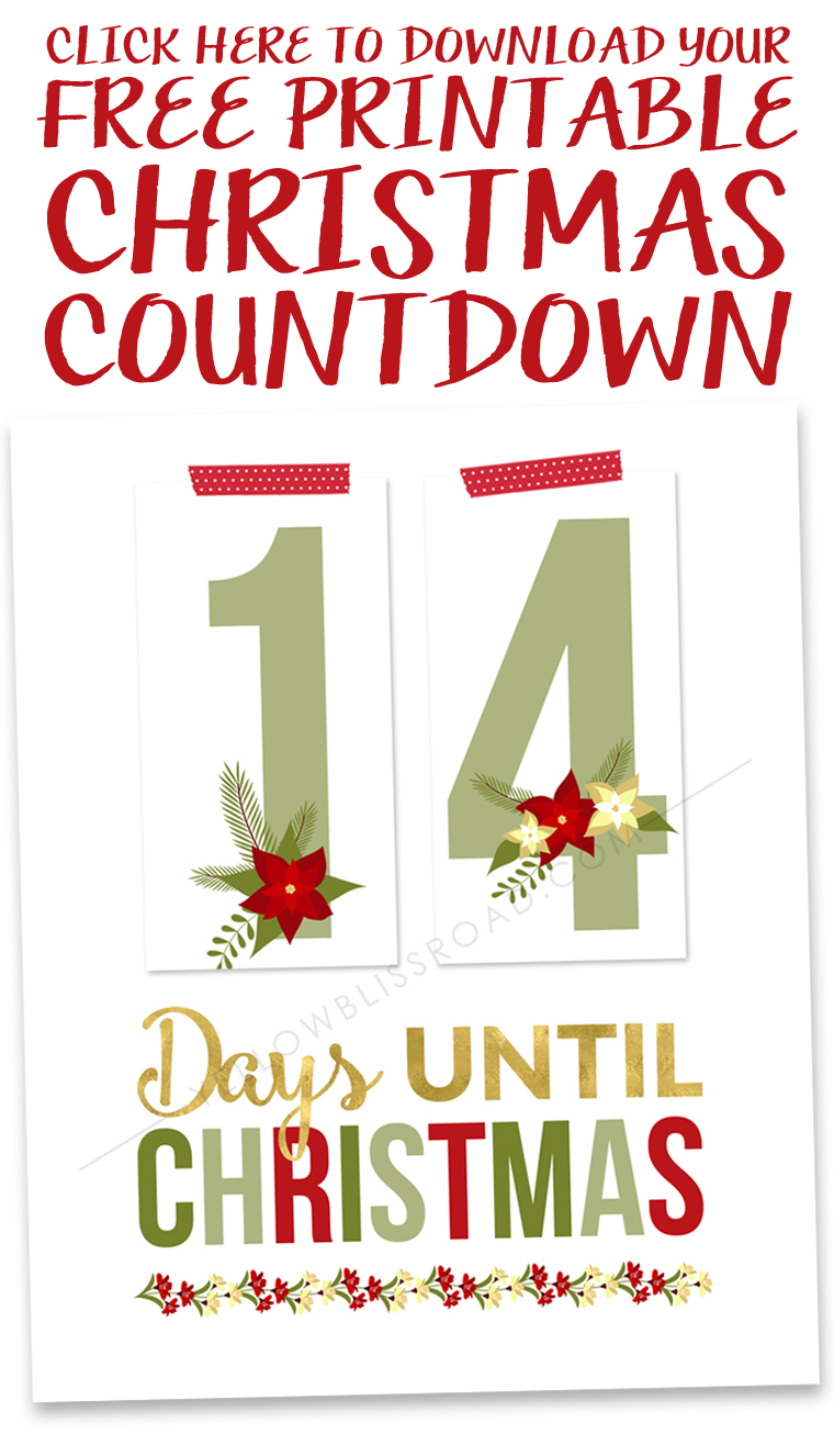Christmas Count Down.Printable Christmas Countdown