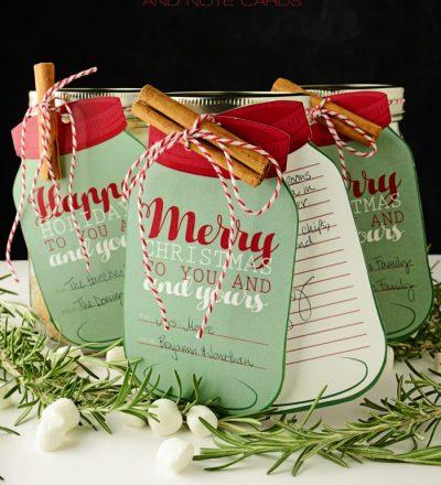 Free Printable Mason Jar Gift Tags & Notecards