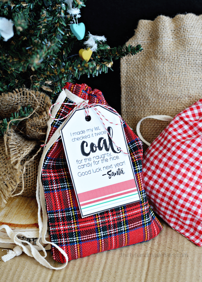 Printable Coal from Santa Gift Tags - Yellow Bliss Road