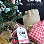 Printable Coal Santa Tags