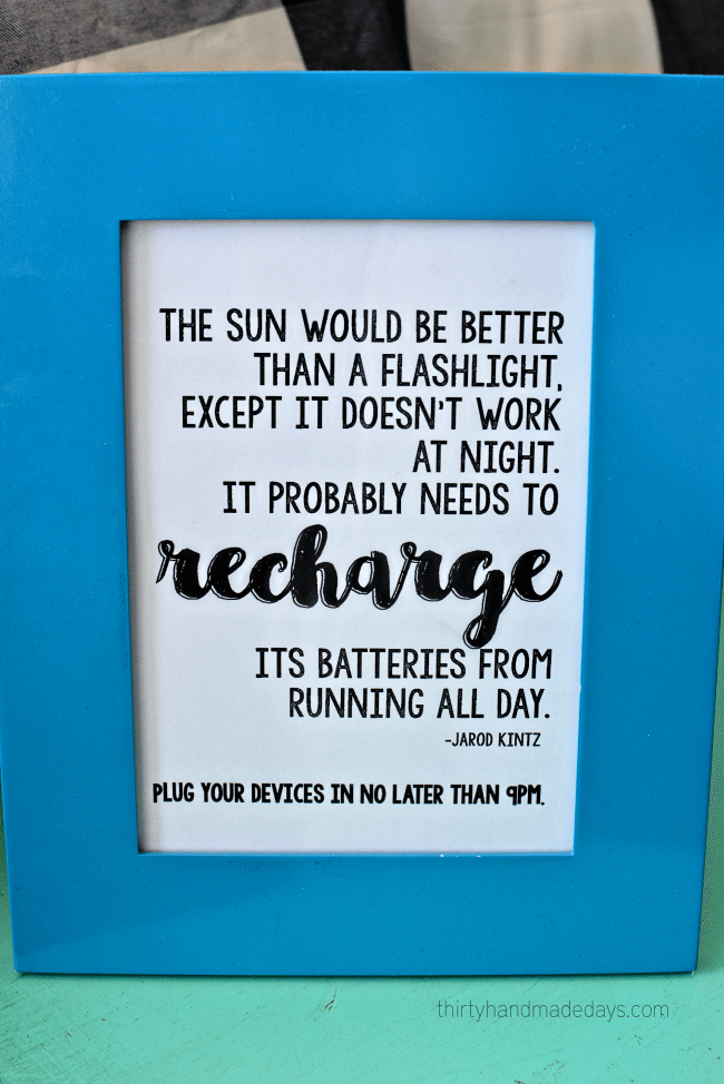 Printable Recharge Quote www.thirtyhandmadedays.com
