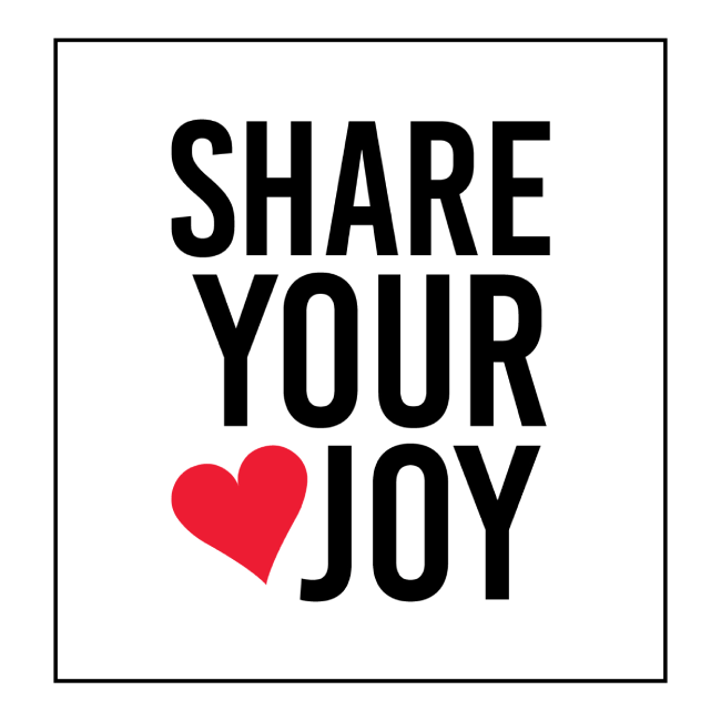 Share Your Joy Pillow front