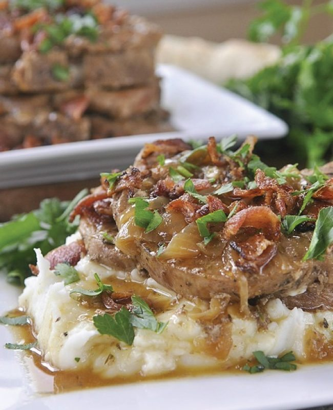 Slow Cooker Smothered Pork Chops from Your Homebased Mom