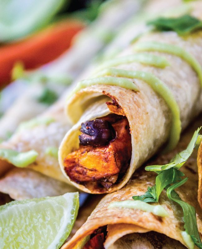 Black Bean and Sweet Potato Taquitos from I Heart Naptime
