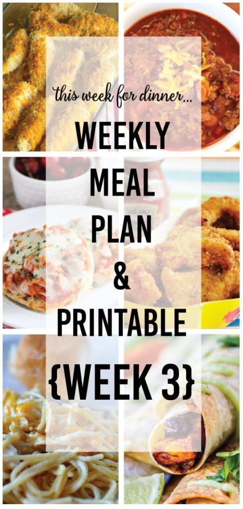 Free Printable Meal Plan - What's For Dinner?