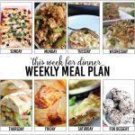 Weekly Meal Plan, Week 4