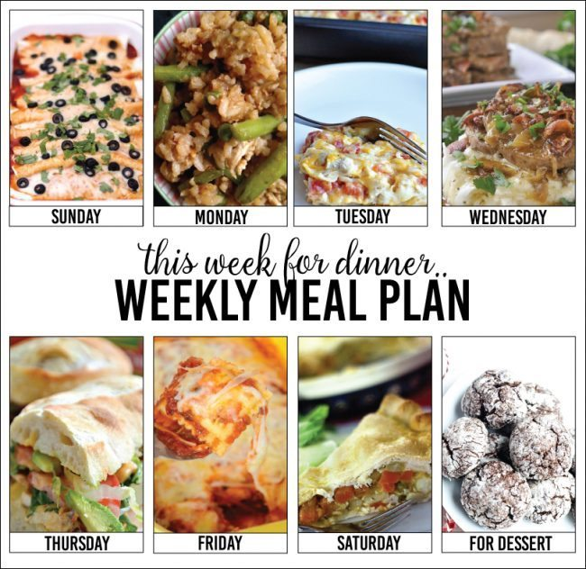 Weekly Meal Plan with your favorite bloggers, Week 4