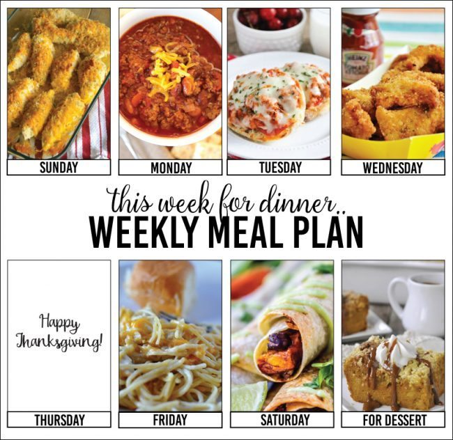 Weekly Meal Plan from your favorite bloggers!