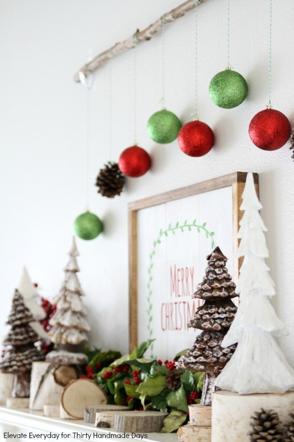 Christmas mantle idea