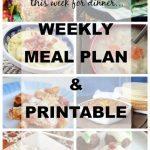 Weekly Meal Plan & Printable, Week 5