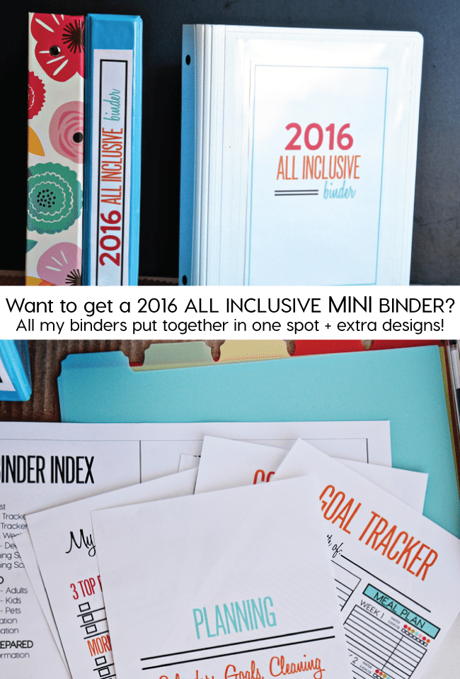 All Inclusive MINI Binder from Thirty Handmade Days