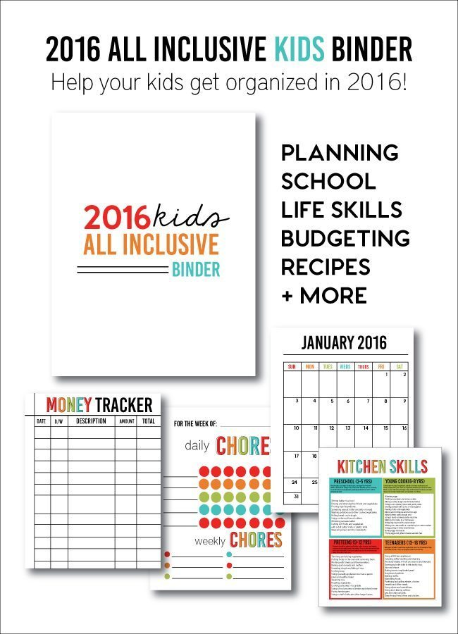 Kids All Inclusive Binder for 2016