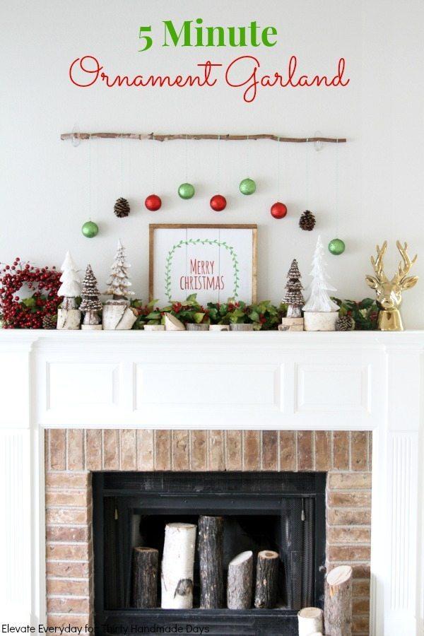 easy ornament garland