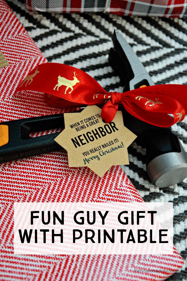 Fun gift for guys for Christmas from www.thirtyhandmadedays.com