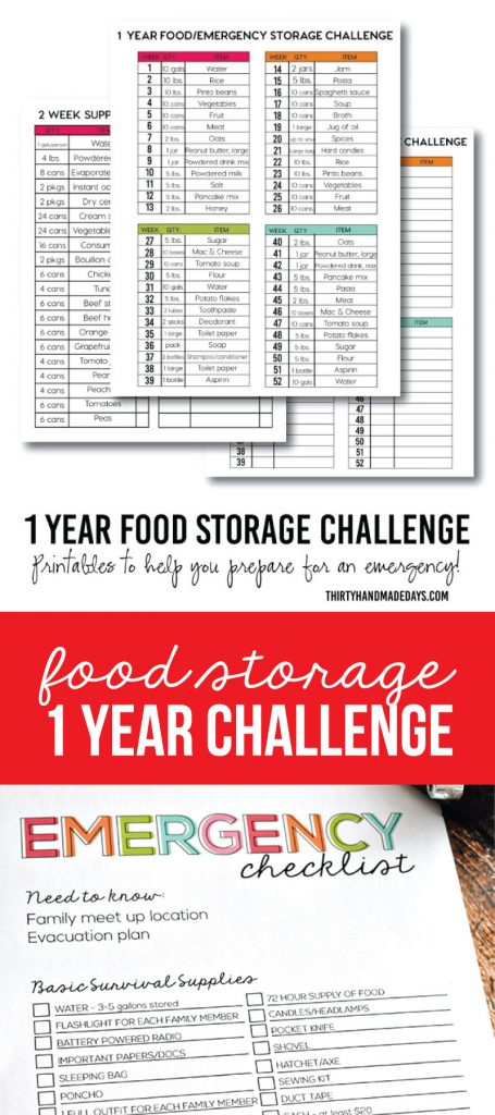 1 Year Food Storage Challenge