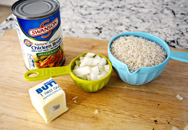 1/2 Stick of Butter Rice: the ingredients