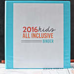 2016 All Inclusive KIDS Binder
