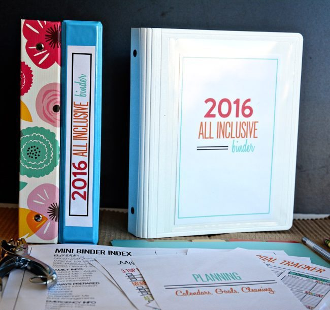 Mini All Inclusive 2016 Binder from www.thirtyhandmadedays.com
