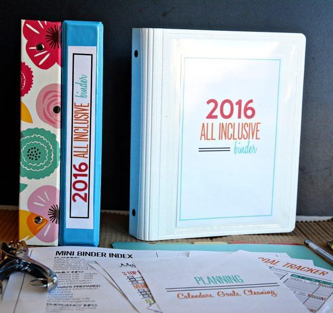 Mini All Inclusive 2016 Binder from www.thirtyhandmadedays.com