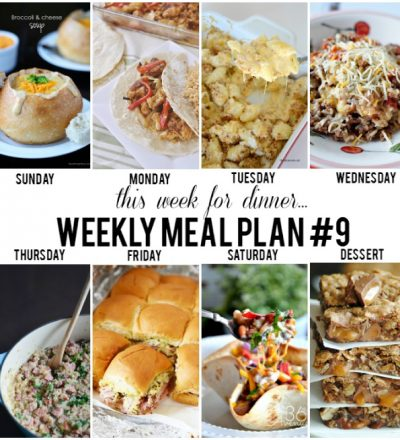 Weekly Meal Plan Plus Printable from some of your favorite bloggers www.thirtyhandmadedays.com