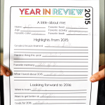 Printable New Year's Resolutions for Kids 2016