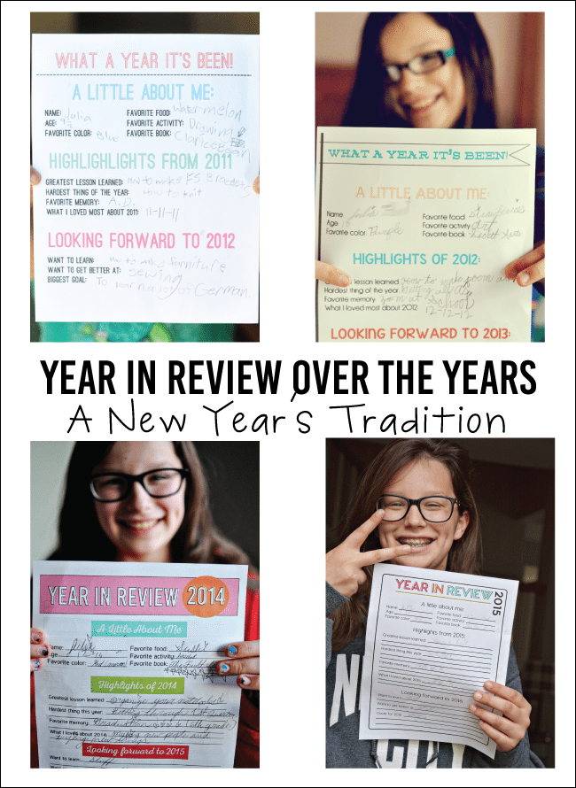 2015 Printable Year in Review - a new year's tradition www.thirtyhandmadedays.com