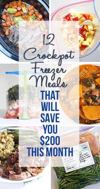 12 Crockpot Freezer Meals That Will Save You $200 This Month