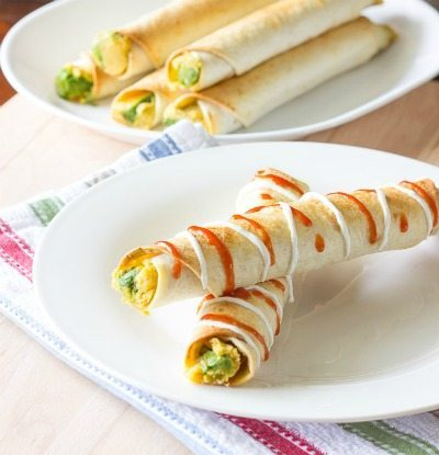 Avocado-Hummus-Taquitos by The Wholesome Dish / round up on ThirtyHandmadeDays.com