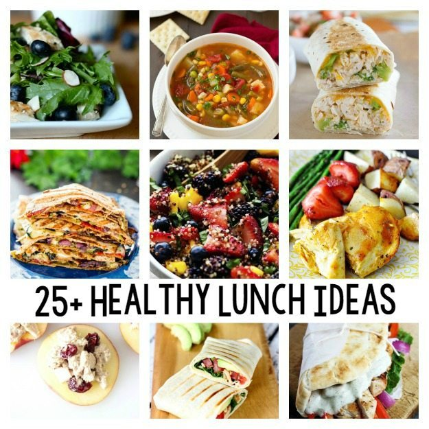 25+ Healthy Lunch Ideas / a round up of healthy recipes on ThirtyHandmadeDays.com