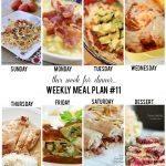 This Week for Dinner: Weekly Meal Plan, Week 11