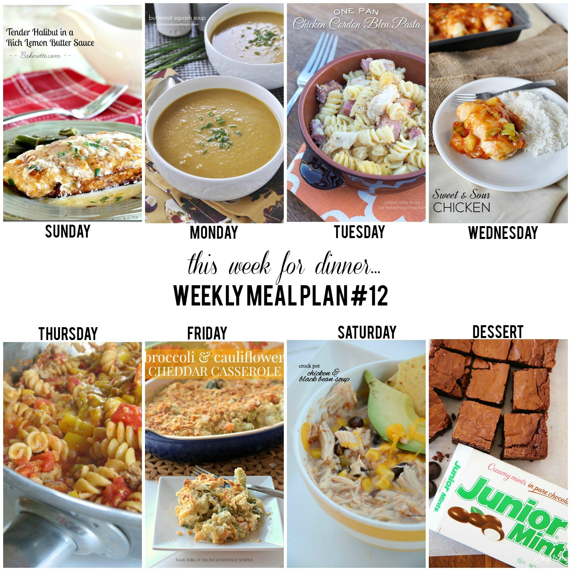 This Week For Dinner Weekly Meal Plan