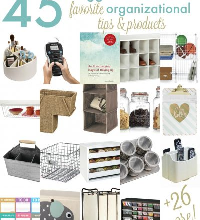 45 Favorite Organizational Products from your Favorite Bloggers www.thirtyhandmadedays.com